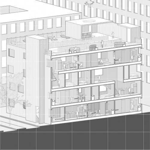TETRIS Social Distancing Housing Block